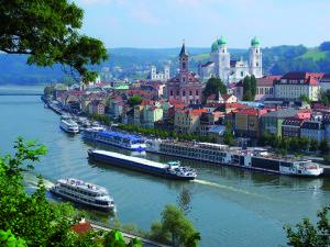Passau, City of Three Rivers, Bavaria, Germany.